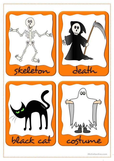 Halloween Flashcards Printable Hallowenorg