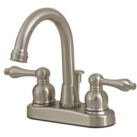 Walmart Bathroom Vanity Faucets by Solutions By Peerless Hi Rise Bath Faucet Satin Nickel