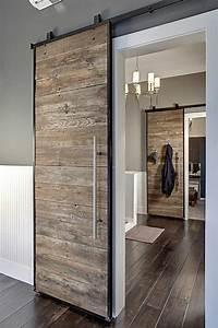 decouvrir la porte a galandage en beaucoup de photos With porte d entrée pvc avec salle de bain bois brut