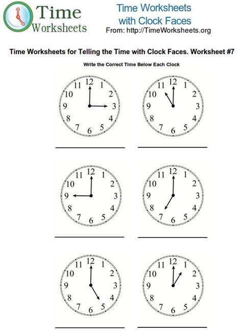 teaching time 1st grade printable clocks for