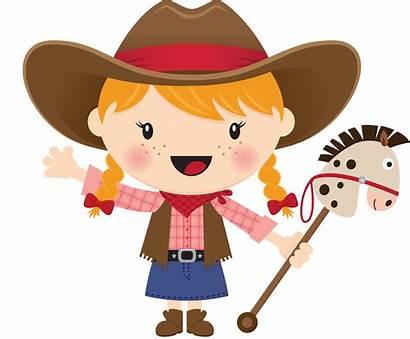 Cowgirl Clipart Horse Cowboy Hair Blonde Cowboys