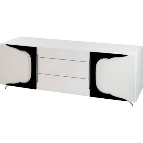 High Gloss Sideboards Uk by Buy Gillmore Space High Gloss White And Black Sideboard