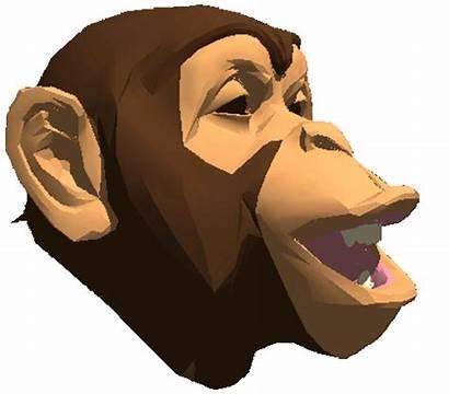 Monkey Sticker Giphy Gifs Chimpanzee Badblueprints Stickers