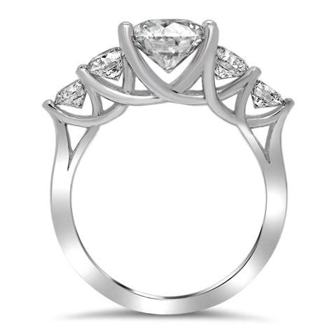 tapered trellis  stone engagement ring