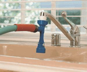 garden hose attachment for kitchen sink faucet adapter sink to garden hose really works 8301