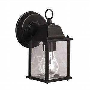 shop kichler barrie 85 in h black outdoor wall light at With kichler lighting 9735bk street outdoor sconce black