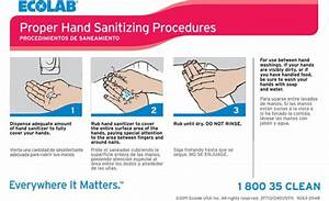 Keystone Hand Sanitizing Procedures Wall Chart