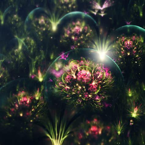 ethereal digital art reminiscent  alien plant life