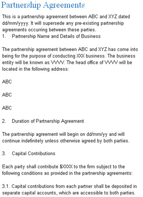 Partnership Agreement Form Launched by Laws.com