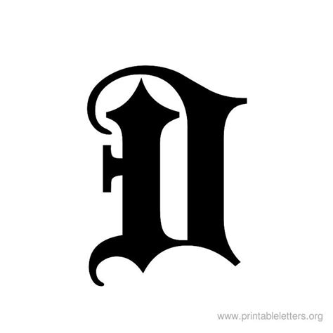 printable letter  english  printable letters lettering