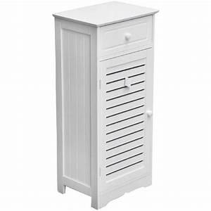 Meuble Salle De Bain Rangement : meuble de rangement salle de bain avec tiroir et porte ~ Dailycaller-alerts.com Idées de Décoration