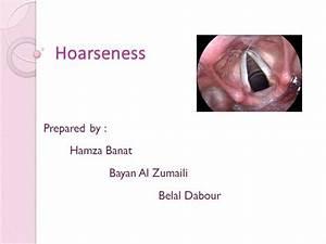 Hoarseness Of Voice
