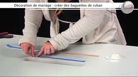 faire un noeud de chaise déco faire des baguettes à rubans pour un mariage