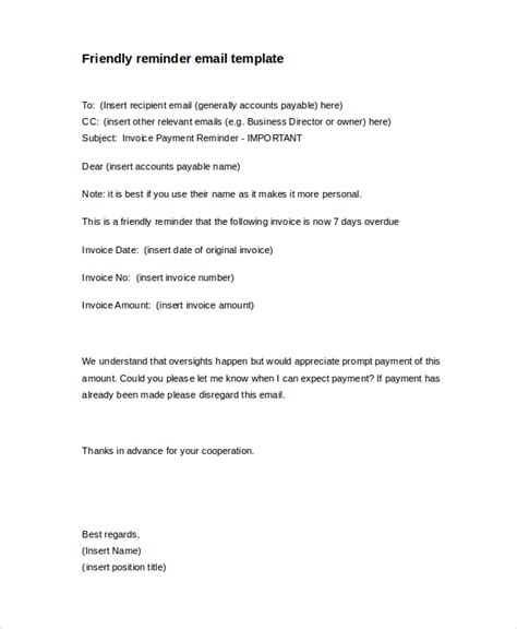 invoice reminder template  types