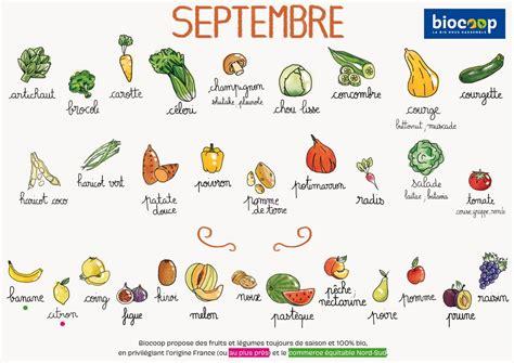 légumes de septembre le calendrier de saisonnalit 233 fruits et l 233 gumes de