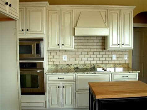 Painted, Distressed Kitchen Cabinets