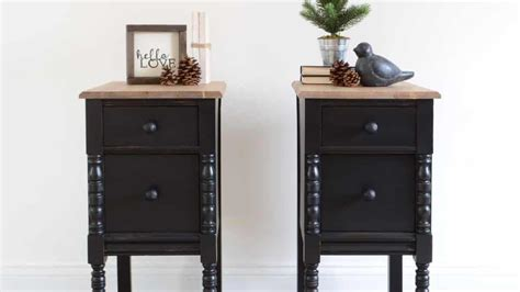 Matching Nightstands by Vanity Turned Matching Nightstands Guest Post Country