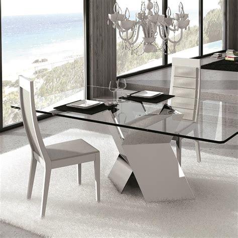 table haute de cuisine avec tabouret table en verre design pied chromé sur cdc design