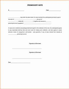 simple promissory note letter document sample vatansun With promissory letter template