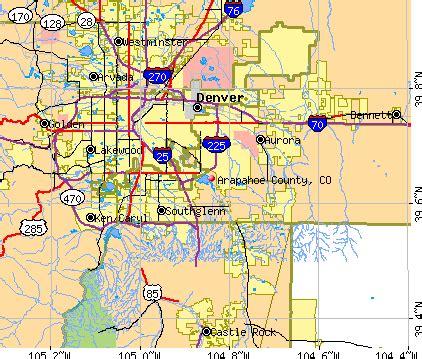 Arapahoe County Colorado Boundaries Map