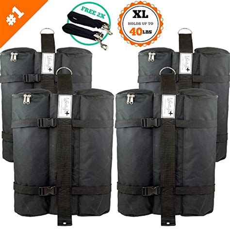 canopy weight bags  set  lbs large hurricane straps weather resistant outdoor ebay
