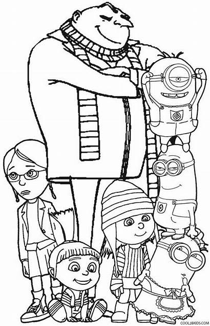 Despicable Coloring Pages Minions Printable Minion Gru