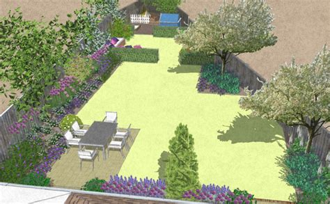 triangle shaped garden for for the whole family bea