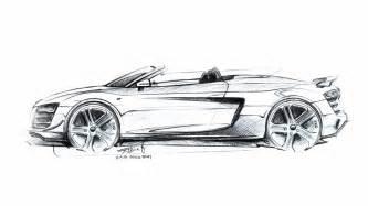 design automobile audi r8 gt spyder design sketch 2 supercar sketches