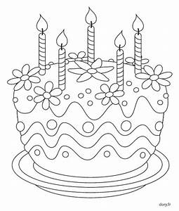 Dessin Gateau Anniversaire : coloriage imprimer un g teau d 39 anniversaire desene de ~ Melissatoandfro.com Idées de Décoration
