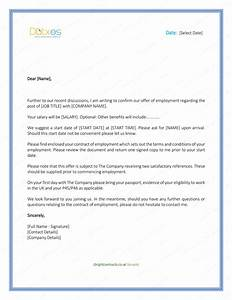 Job Offer Letter – Download Free Formats and Sample for Word  Dot