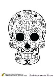 Tete De Mort Mexicaine Dessin : coloriage squelette sucre fleurs croix sur ~ Melissatoandfro.com Idées de Décoration