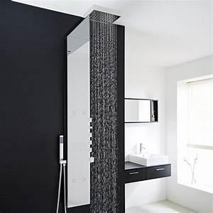 Hudson Reed Duschpaneel : pannello doccia termostatico idromassaggio completo con soffione a pioggia e cascata ~ Sanjose-hotels-ca.com Haus und Dekorationen