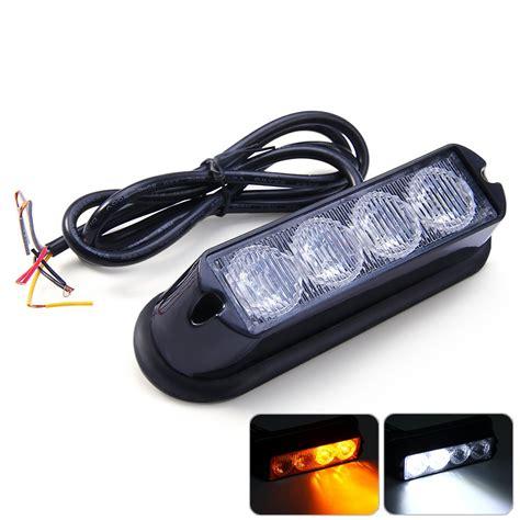 safety strobe lights for trucks ip65 12v 4w amber and white 4 led strobe light car truck