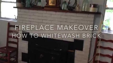 Fireplace Makeover How To Whitewash Brick Youtube