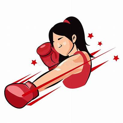 Boxing Woman Boxer Clipart Strong Vector Champion