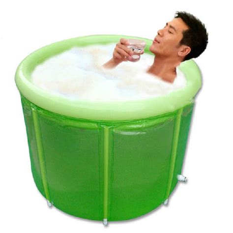 portable bath tub folding bathtub thicken durable spa sauna barrel