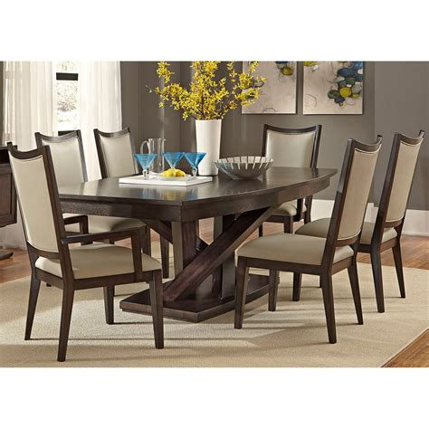 Dining Room Tables Sets by Liberty Furniture Springfield 7 Pedestal Table Set