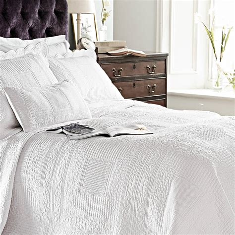 white quilted bedspread white quilted cotton single bedspread by marquis