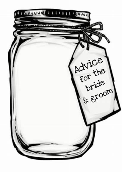 Advice Jar Bride Mason Groom
