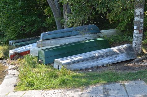 Small Boat Used To Get To Land by The Immortal Aluminum Skiff The Marsh Fleet
