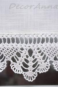 Leinen Gardine Mit Häkelspitze : dieser kurze ecru vorhang ist die einmalige dekoration der vorhang ist aus baumwollstoff ~ Orissabook.com Haus und Dekorationen