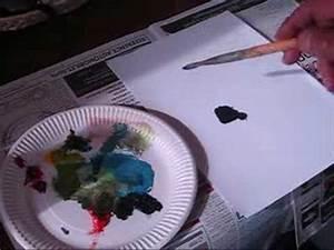 Comment Faire Du Gris En Peinture : cours de peinture comment faire du noir avec 3 couleurs youtube ~ Preciouscoupons.com Idées de Décoration