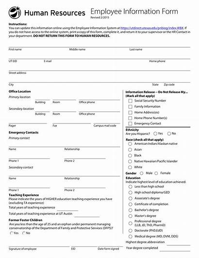 Employee Form Examples Pdf Word Fillable Hr