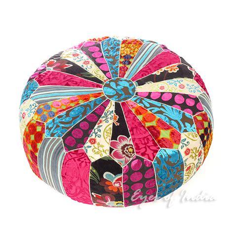colorful ottoman 20 x 8 quot colorful velvet pouf ottoman cover floor