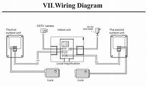 Classical Design 4 Wire 7inch Memory Video Door Phone