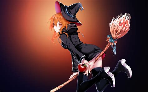 Anime Magic Wallpaper - wallpaper magic costume flying broomstick