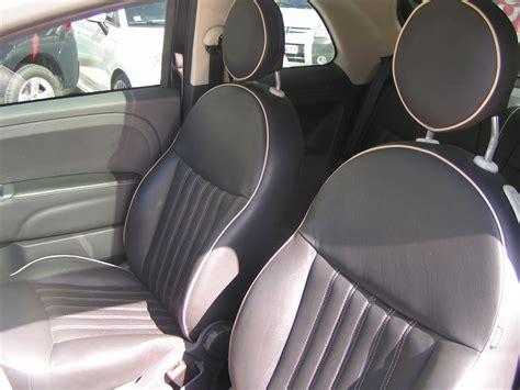 fiat 500 interieur cuir vendu cette semaine 500 lounge cuir dualogic 1ere 73 000 kms reprise auto et vente avec