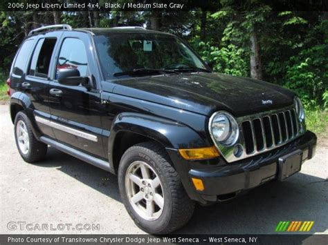 black jeep liberty interior black 2006 jeep liberty limited 4x4 medium slate gray