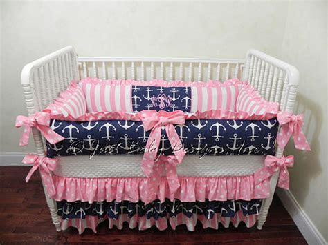 Nautical Baby Bedding Set Tori Girl Baby Bedding Navy