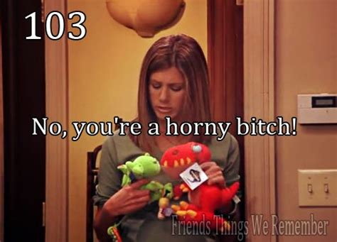 No You Re A Horny Bitch The One With All Things F•r